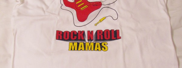 Rock N Roll Mama t-shirt <br>(Black Ringer)